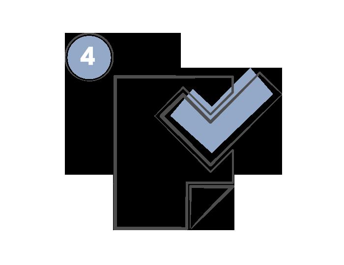 Checkmark paper icon