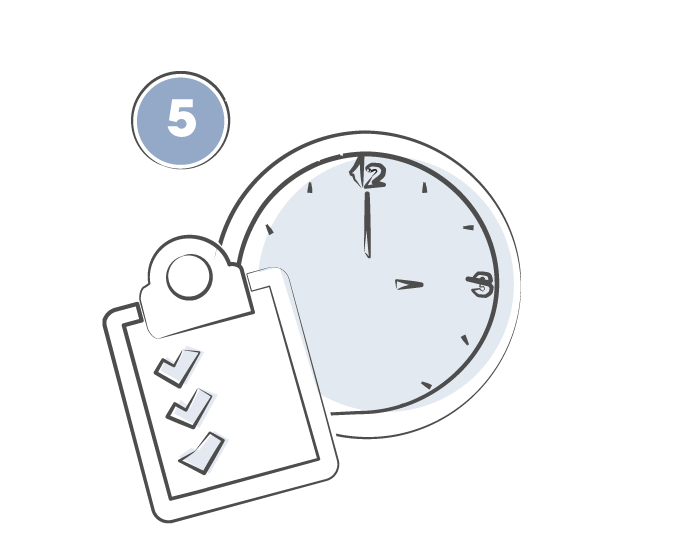 Clock clipboard icon